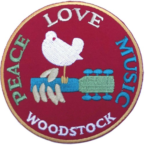Patch Woodstock Peace, Love, Music