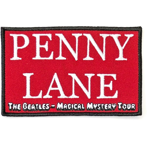 Patch The Beatles Penny Lane Red