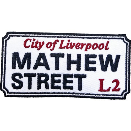 Patch Road Sign Mathew Street, Liverpool Sign