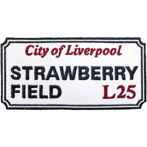Patch Road Sign Strawberry Field, Liverpool Sign