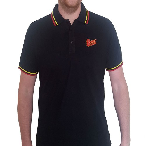 Tricou Polo David Bowie Flash Logo
