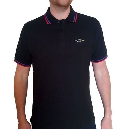 Tricou Polo Pink Floyd Dark Side of the Moon Prism