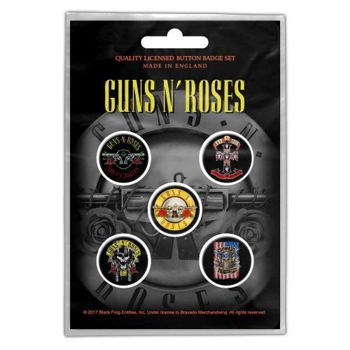 Set Insigne Guns N' Roses Bullet Logo