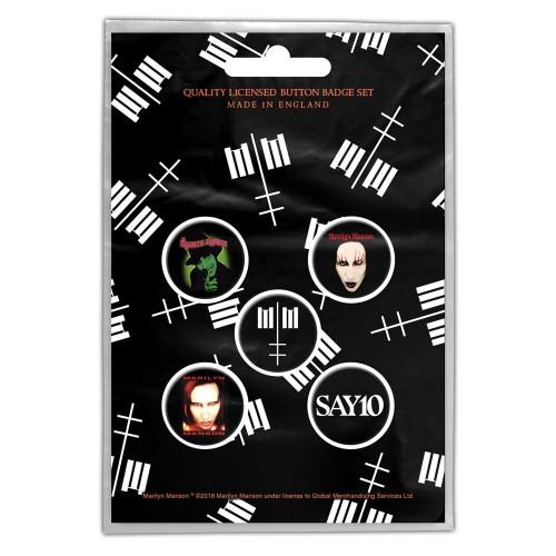 Set Insigne Marilyn Manson Cross Logo