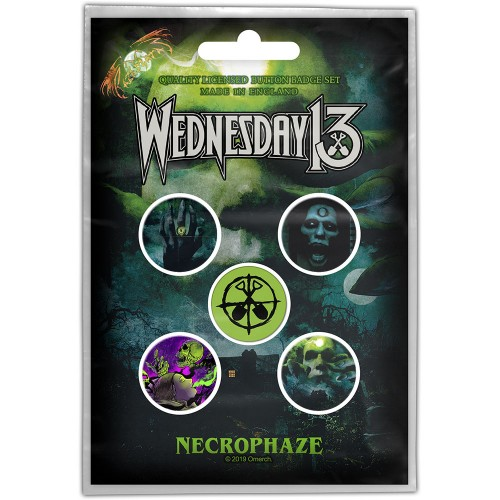 Set Insigne Wednesday 13 Necrophaze