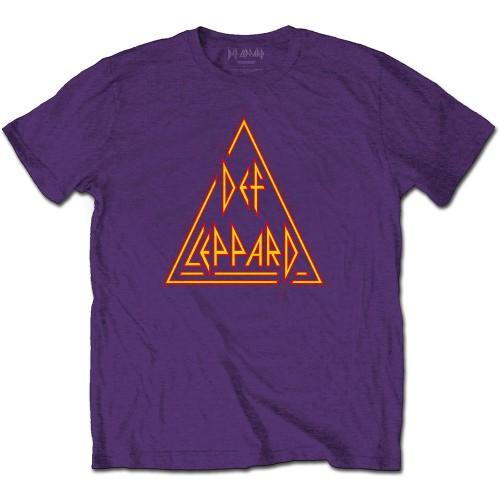 Tricou Def Leppard Classic Triangle Logo