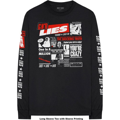 Tricou Mânecă Lungă Guns N' Roses Lies Cover