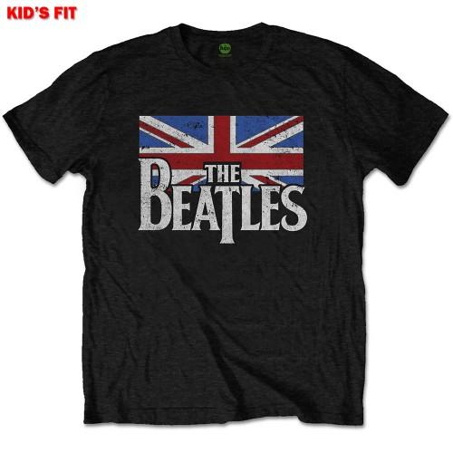Tricou Copil The Beatles Dop T Logo & Vintage Flag