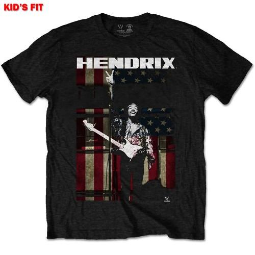Tricou Copil Jimi Hendrix Peace Flag