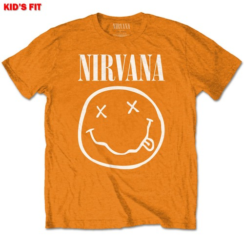 Tricou Copil Nirvana White Smiley