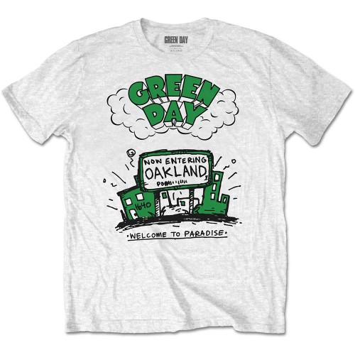Tricou Green Day Welcome to Paradise