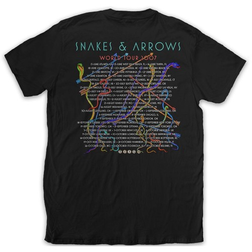 Rush Unisex Tee: Snakes & Arrows Tour 2007 (Back Print)