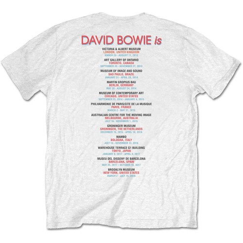 David Bowie Unisex Tee: Bowie Is (Back Print)