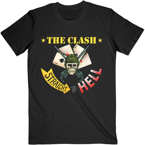 Tricou The Clash Straight To Hell Single