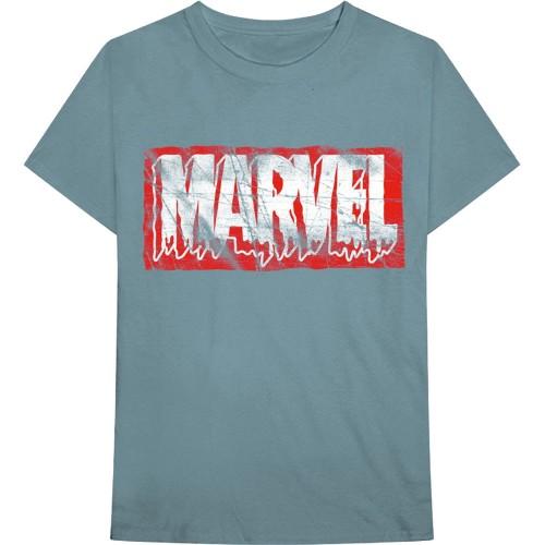 Tricou Marvel Comics Distressed Dripping Logo