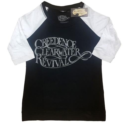 Tricou Dama cu Maneca 3/4 Creedence Clearwater Revival Vintage Logo