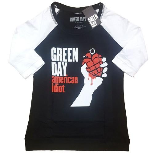 Tricou Dama cu Maneca 3/4 Green Day American Idiot