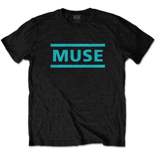 Tricou Muse Light Blue Logo