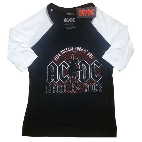 Tricou Dama cu Maneca 3/4 AC/DC Hard As Rock
