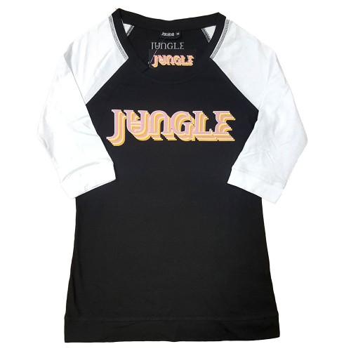 Tricou Dama cu Maneca 3/4 Jungle Colour Logo