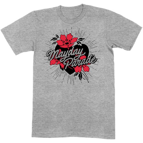 Tricou Mayday Parade Heart and Flowers