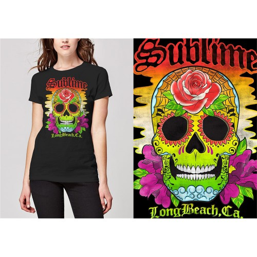 Tricou Dama Sublime Colour Skull