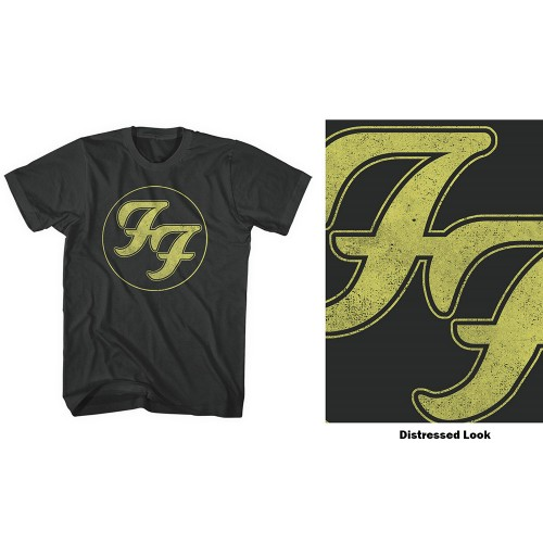 Tricou Foo Fighters Distressed FF Logo