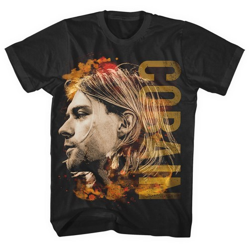 Tricou Kurt Cobain Coloured Side View