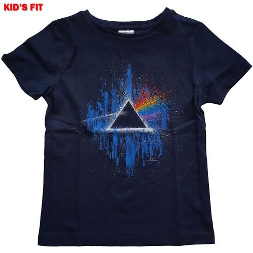 Tricou Copil Pink Floyd Dark Side of The Moon Blue Splatter