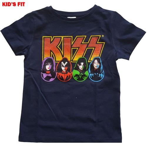 Tricou Copil KISS Logo, Faces & Icons
