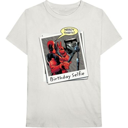 Tricou Marvel Comics Deadpool Birthday Selfie