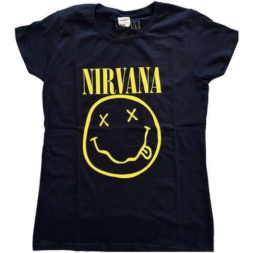 Tricou Dama Nirvana Yellow Smiley