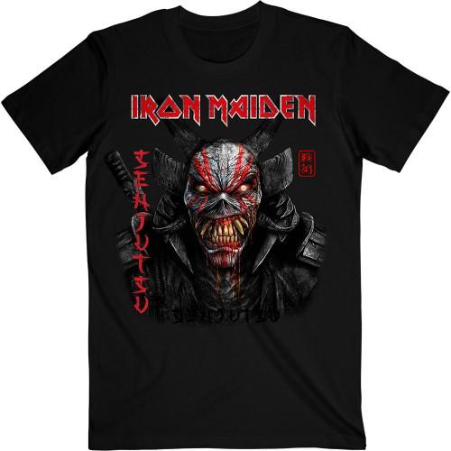 Tricou Iron Maiden Senjutsu Black Cover Vertical Logo