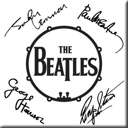 Magnet The Beatles Signed Drum Logo