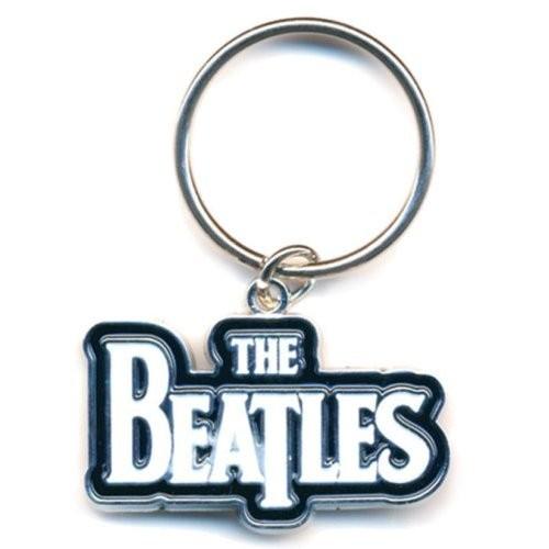 Breloc The Beatles Drop T Logo (White)