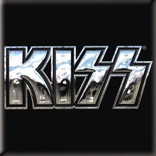 Magnet KISS Chrome Logo
