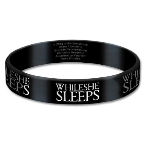 Brățară de Silicon While She Sleeps Logo