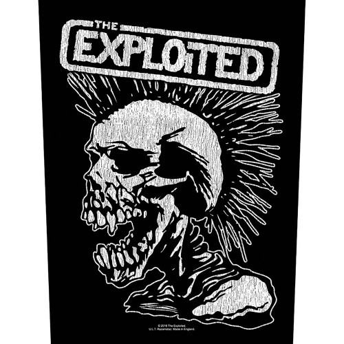 Back Patch The Exploited Vintage Skull