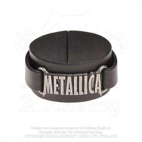 Brățară de Piele Metallica Logo