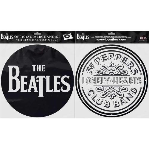 Set Slipmaturi The Beatles Drop T Logo & Sgt Pepper Drum