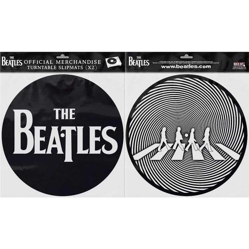Set Slipmaturi The Beatles Drop T Logo & Crossing Silhouette
