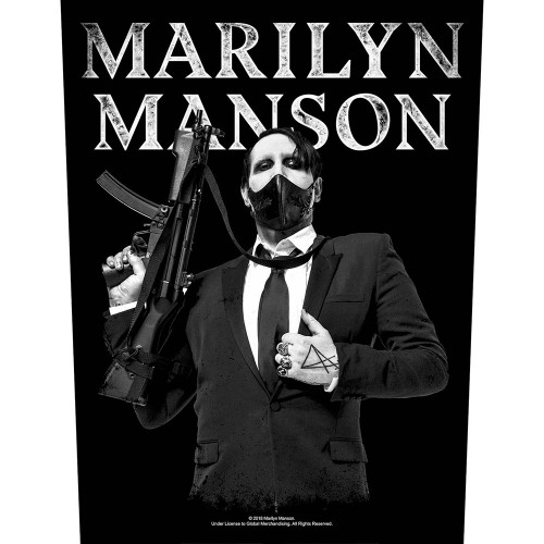 Back Patch Marilyn Manson Machine Gun