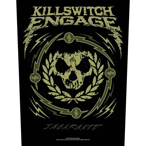 Back Patch Killswitch Engage Skull Wreath