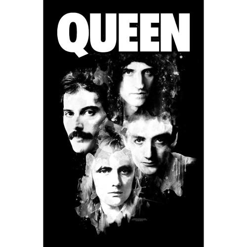 Poster Textil Queen Faces