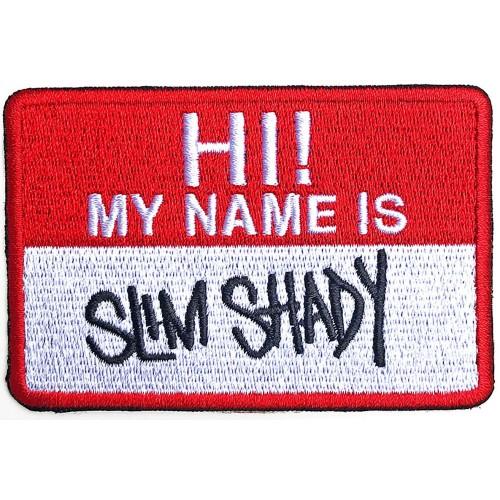 Patch Eminem Slim Shady Name Badge