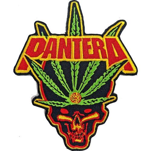 Patch Pantera Leaf Skull