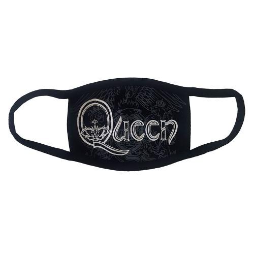 Mască Textilă Queen White Retro Logo