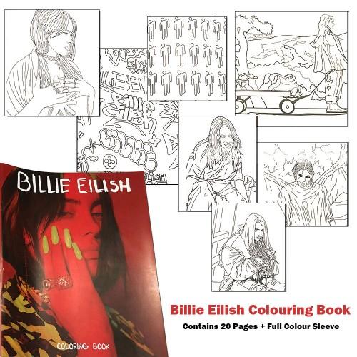 Carte de Colorat Billie Eilish Billie