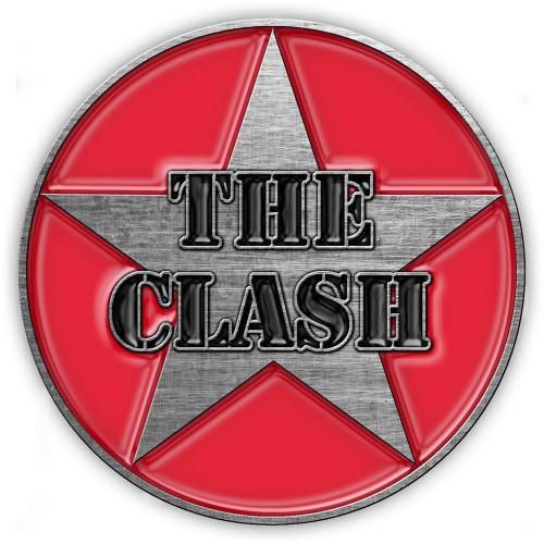 Insignă The Clash Military Logo