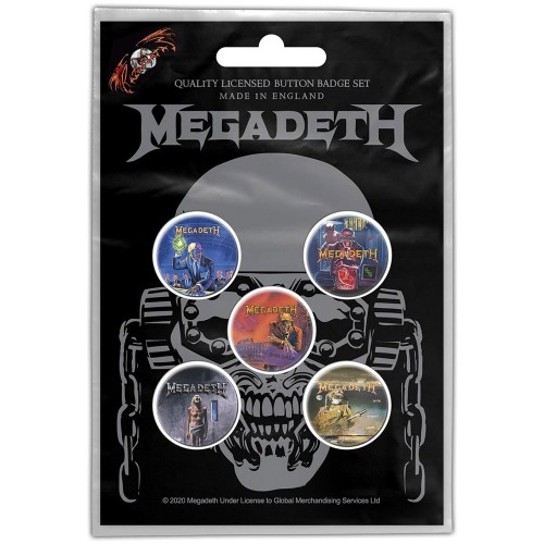Set Insigne Megadeth Vic Rattlehead